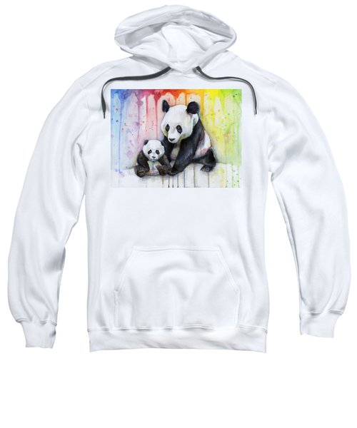 Panda Watercolor Mom And Baby Sweatshirt