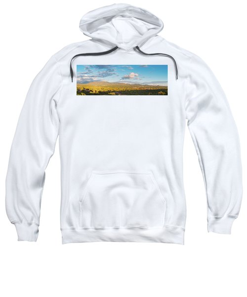 Panorama Of Santa Fe And Sangre De Cristo Mountains - New Mexico Land Of Enchantment Sweatshirt