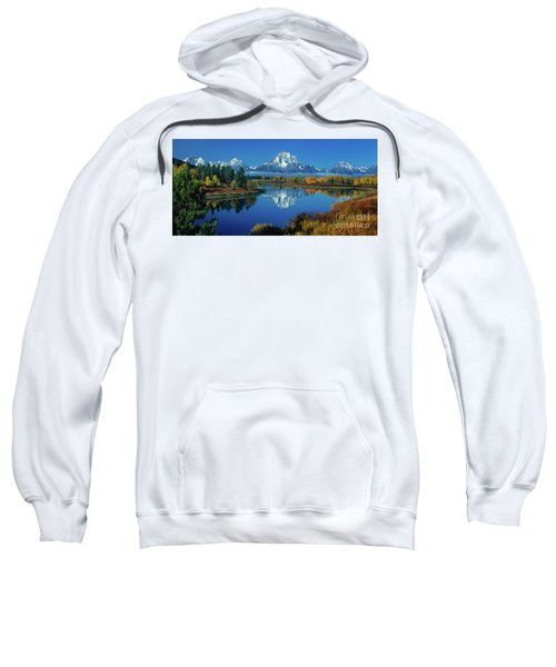 Panorama Oxbow Bend Grand Tetons National Park Wyoming Sweatshirt