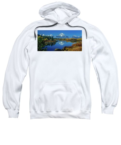 Panorama Oxbow Bend Grand Tetons National Park Wyoming Sweatshirt