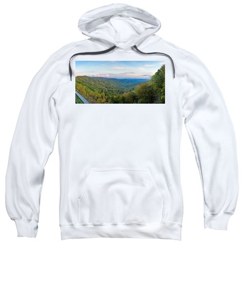Panoramic October Views Of Smokey Mountain National Park Sweatshirt