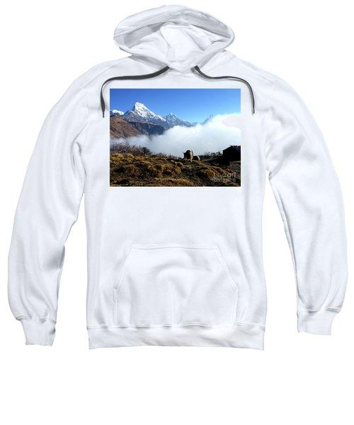Panoramic View Of Everest Mountain Nepal Sweatshirt