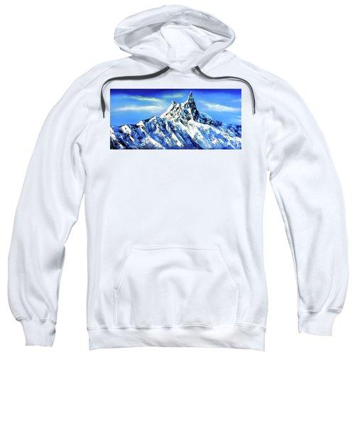 Panoramic View Of Everest Mountain Peak Sweatshirt