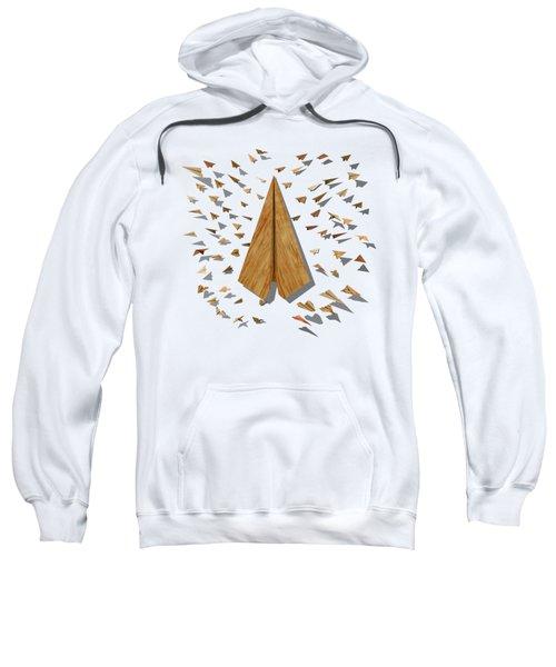 Paper Airplanes Of Wood 10 Sweatshirt by YoPedro