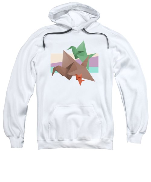Paper Cranes Sweatshirt by Absentis Designs