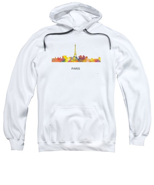 Paris France Skyline Sweatshirt by Marlene Watson