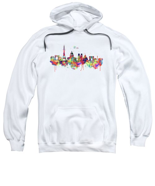 Paris Skyline 2 Sweatshirt by Marian Voicu