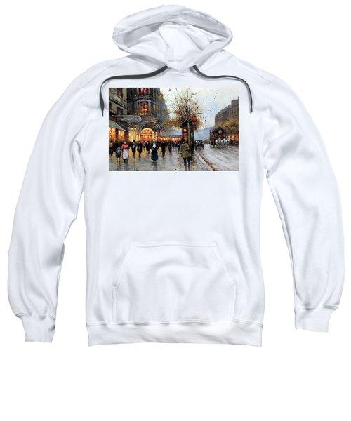Paris Street Scene Sweatshirt