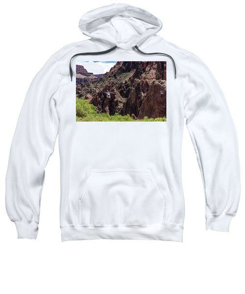 Park Service Helicopter In The Grand Canyon  Sweatshirt