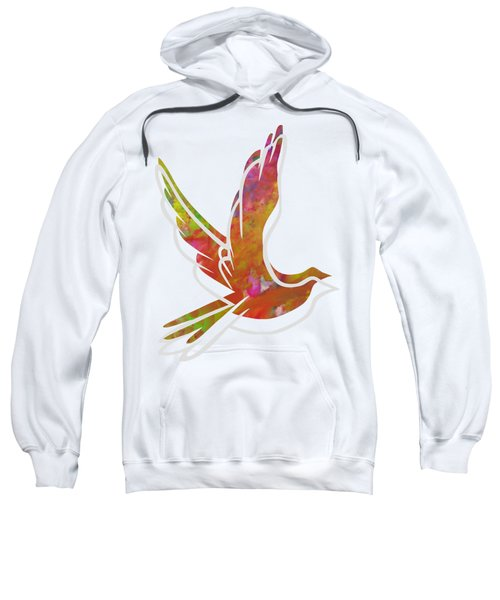 Part Of Peace Dove Sweatshirt by Priscilla Wolfe