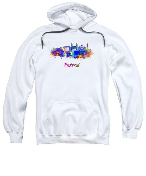 Patras Skyline In Watercolor Sweatshirt