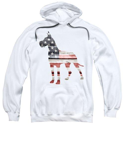 Patriotic Great Dane Sweatshirt