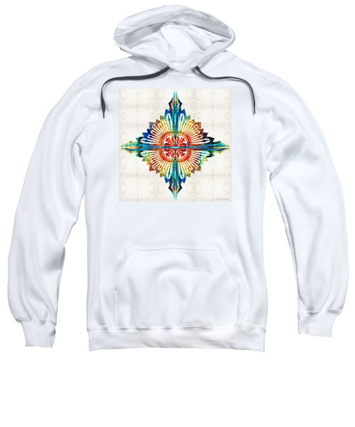 Pattern Art - Color Fusion Design 1 By Sharon Cummings Sweatshirt