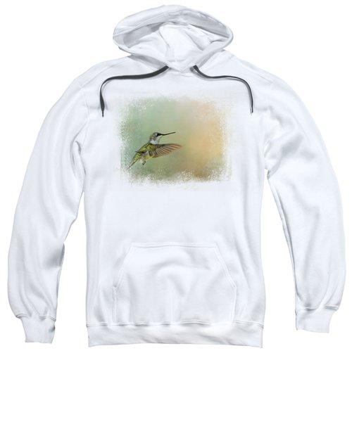 Peaceful Day With A Hummingbird Sweatshirt