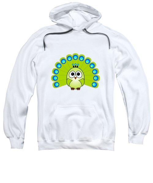 Peacock  - Birds - Art For Kids Sweatshirt by Anastasiya Malakhova
