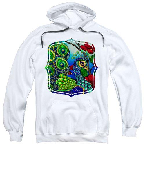 Peacock Zentangle Inspired Art Sweatshirt