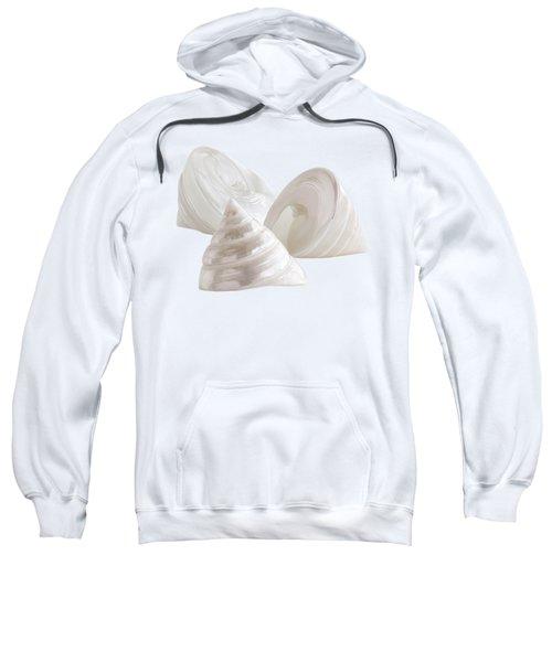 Pearl Troca Shells On White Sweatshirt