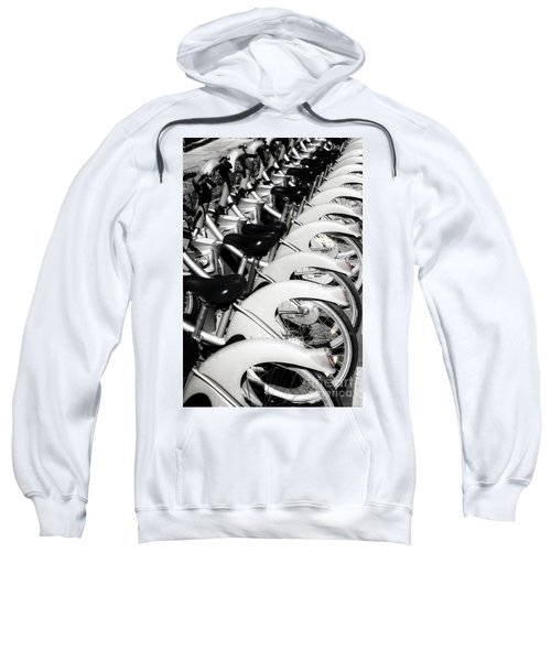 Sweatshirt featuring the photograph Pedal Power by Scott Kemper