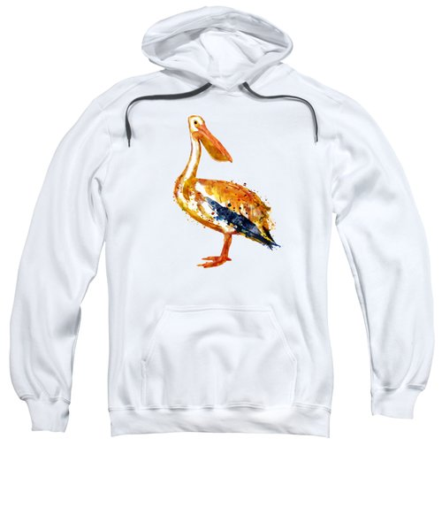 Pelican Watercolor Painting Sweatshirt