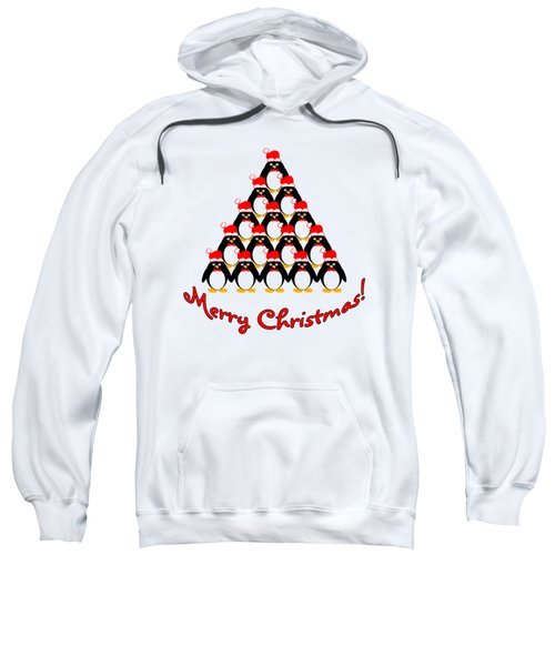 Penguin Christmas Tree Sweatshirt by Methune Hively