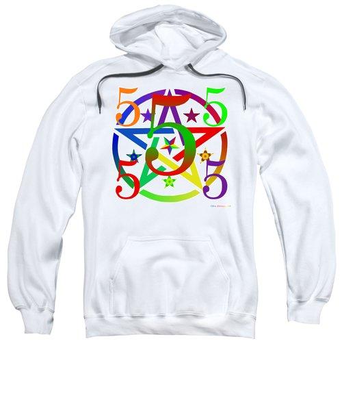 Penta Pentacle White Sweatshirt