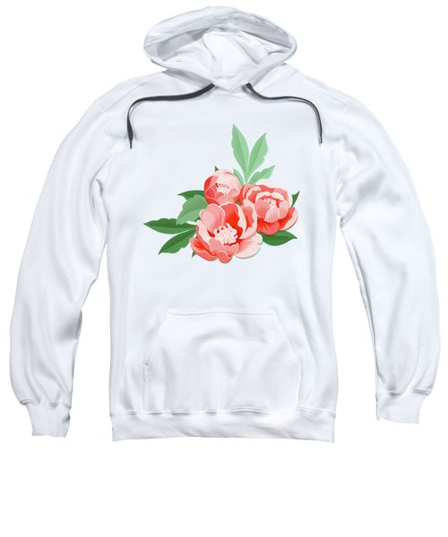 Peonies And Mint Sweatshirt