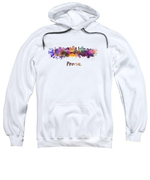 Peoria Skyline In Watercolor Sweatshirt