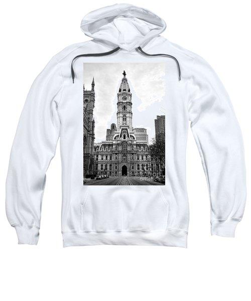 Philadelphia City Hall Building On Broad Street Sweatshirt