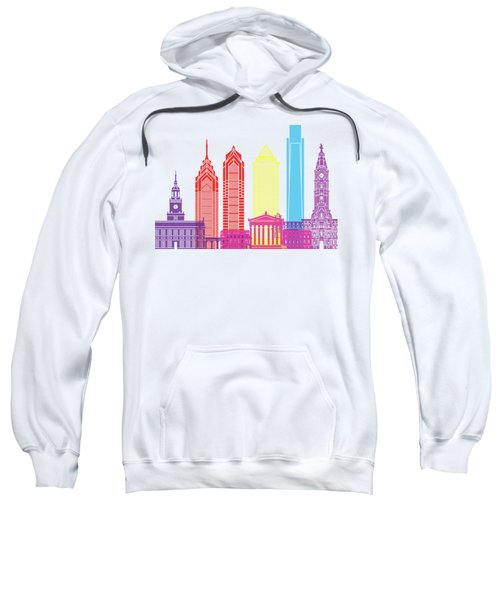 Philadelphia Skyline Pop Sweatshirt by Pablo Romero