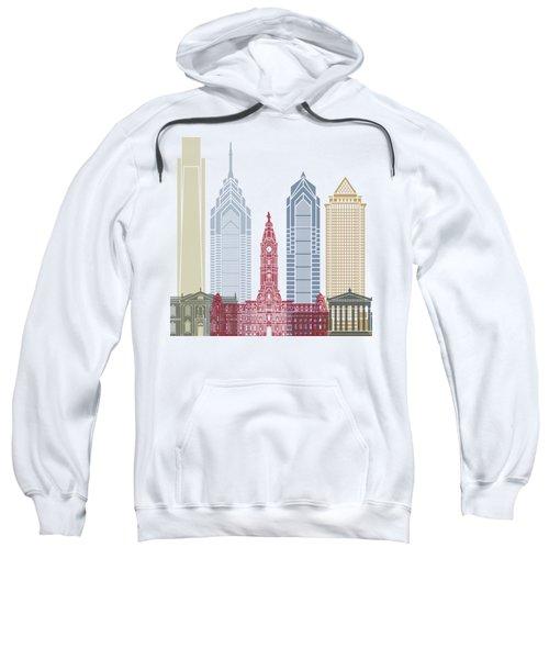 Philadelphia Skyline Poster Sweatshirt by Pablo Romero