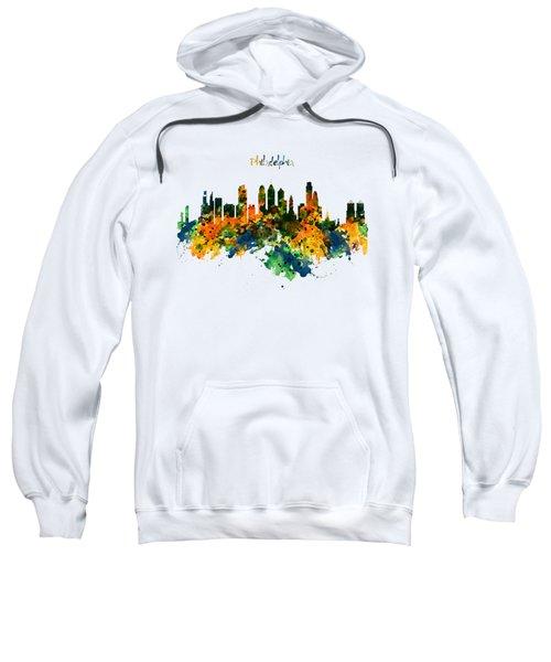 Philadelphia Watercolor Skyline Sweatshirt