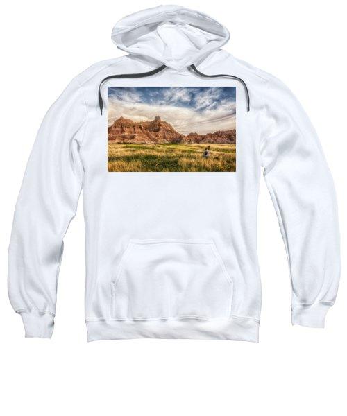 Photographer Waiting For The Badlands Light Sweatshirt