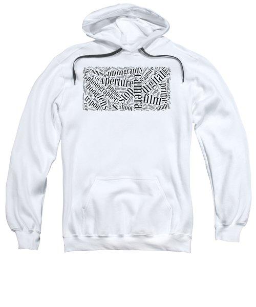 Photography Word Cloud Sweatshirt