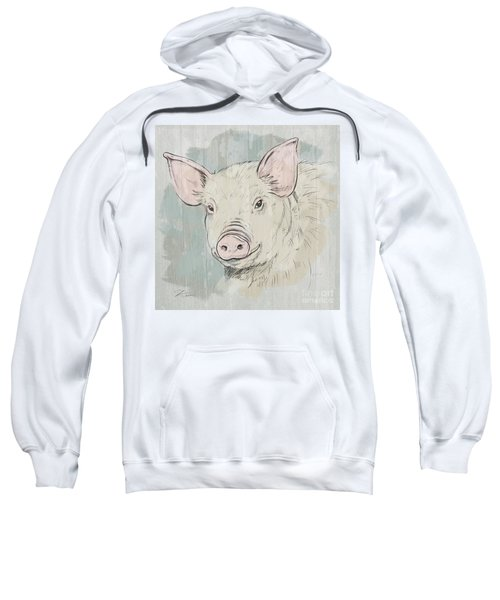 Pig Portrait-farm Animals Sweatshirt