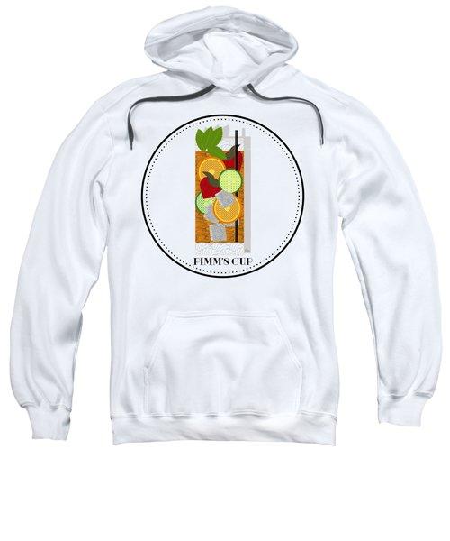 Pimm's Cup Cocktail In Art Deco  Sweatshirt