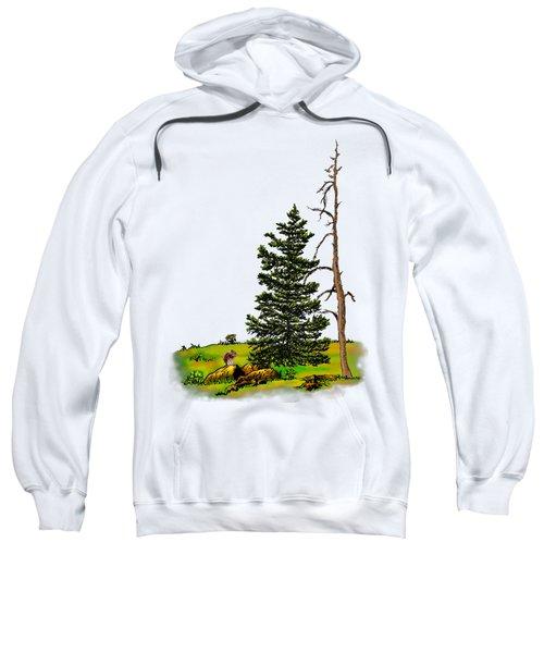 Pine Tree Nature Watercolor Ink Image 3         Sweatshirt