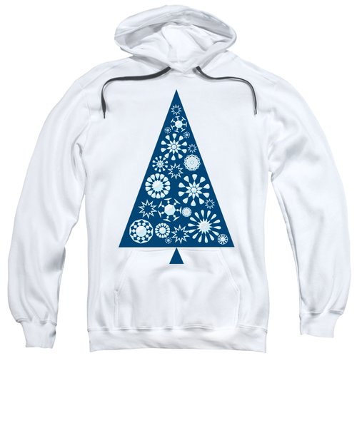 Pine Tree Snowflakes - Blue Sweatshirt