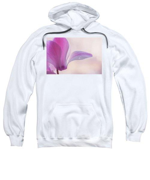 Pink Cyclamen Flower Sweatshirt