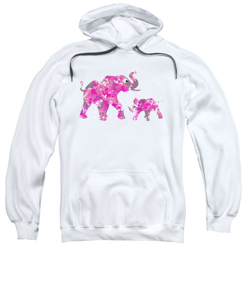 Pink Elephants Sweatshirt by Christina Rollo