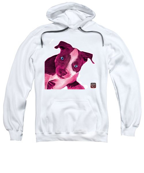 Pink Pitbull Dog Art 7435 - Wb Sweatshirt
