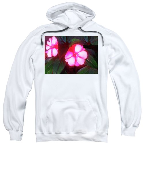 Pink Red Glow Sweatshirt