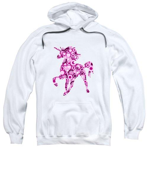Pink Unicorn - Animal Art Sweatshirt by Anastasiya Malakhova