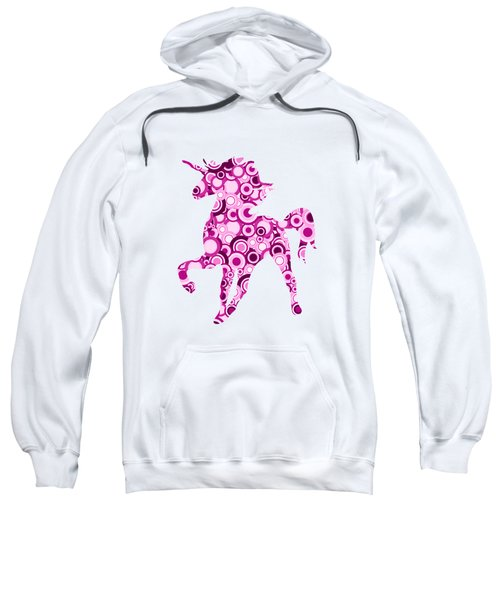 Pink Unicorn - Animal Art Sweatshirt