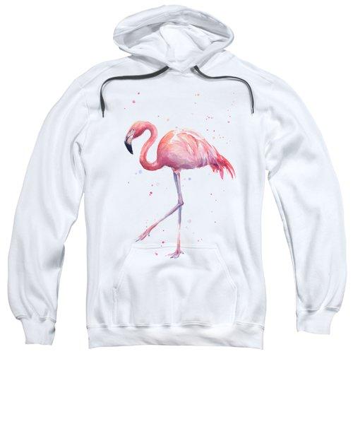 Pink Watercolor Flamingo Sweatshirt