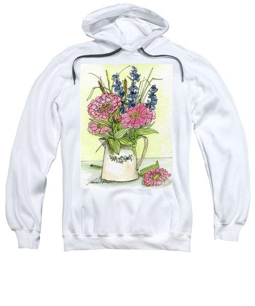 Pink Zinneas Sweatshirt