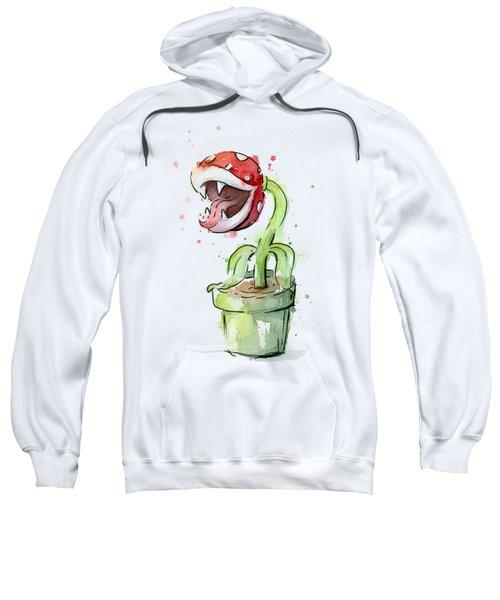 Piranha Plant Watercolor Sweatshirt