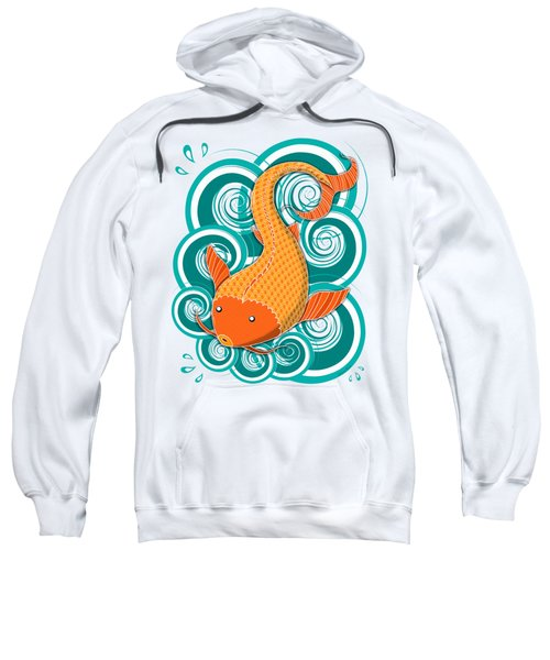 Playing Koi Sweatshirt by Shawna Rowe