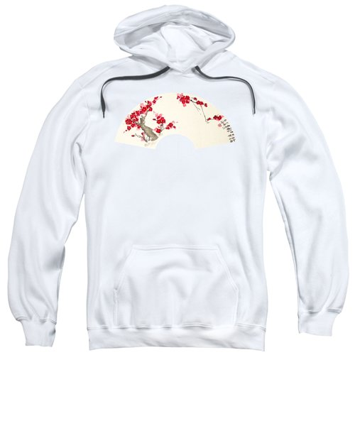 Plum Blossom In Fan - Transparent Sweatshirt