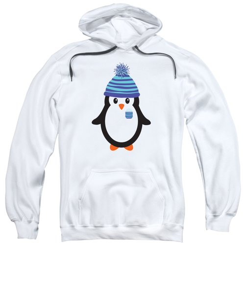 Pocket Snowflake The Penguin Sweatshirt by Natalie Kinnear