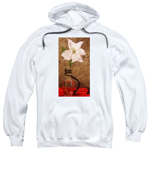 Poinsettia In Pitcher  Sweatshirt